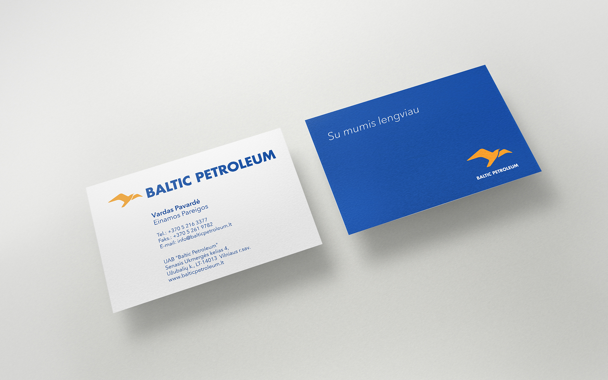 Baltic Petroleum business cards