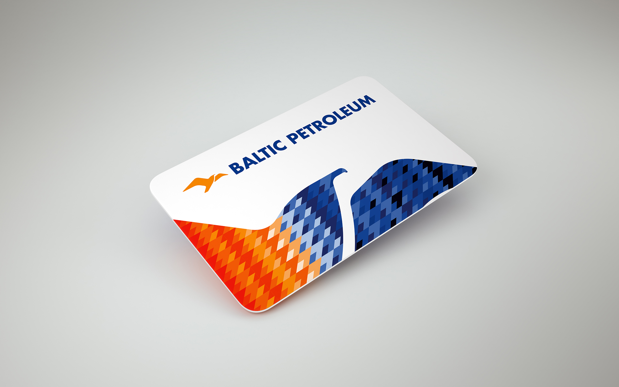 Baltic Petroleum loyalty card white
