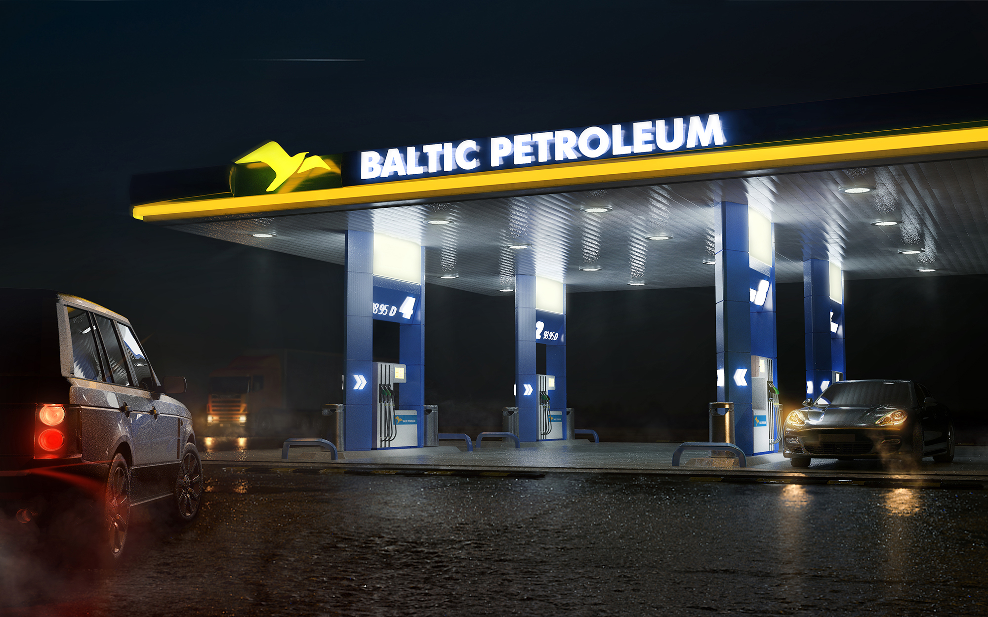 Baltic Petroleum gas station vizualisation