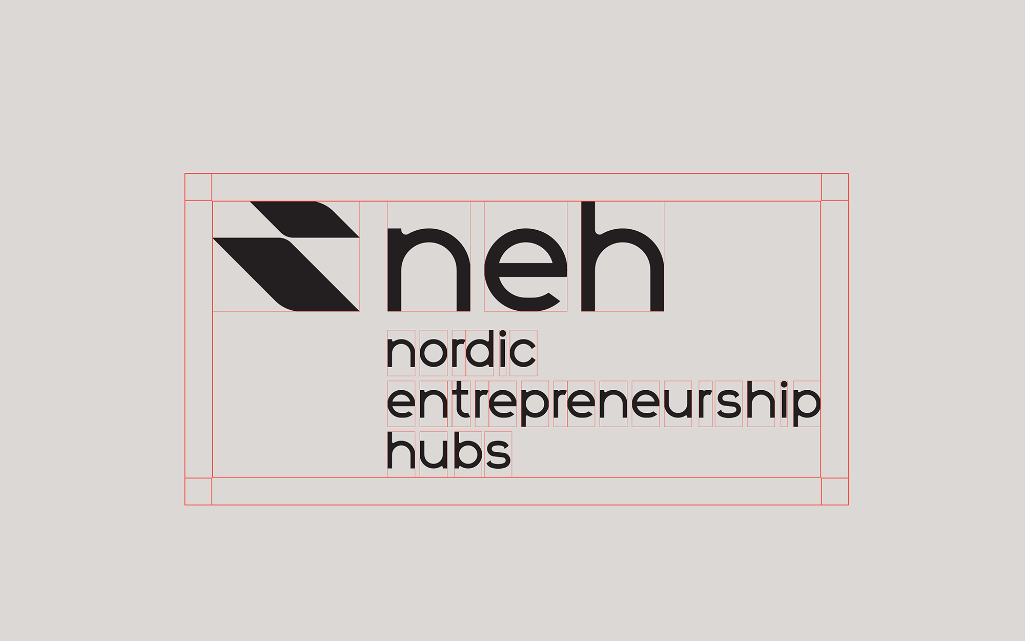 Nordic Entrepreneurship Hubs logo - short initial version safe szones
