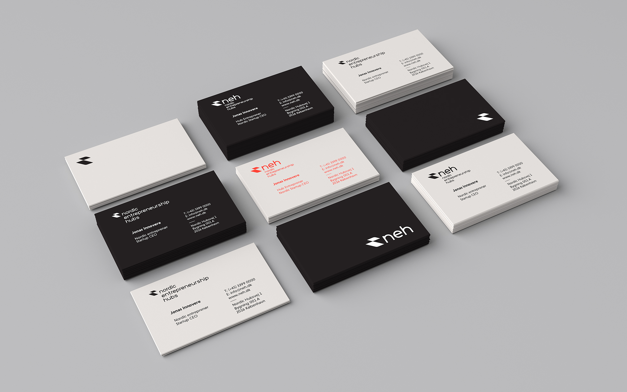 Nordic Entrepreneurship Hubs business cards