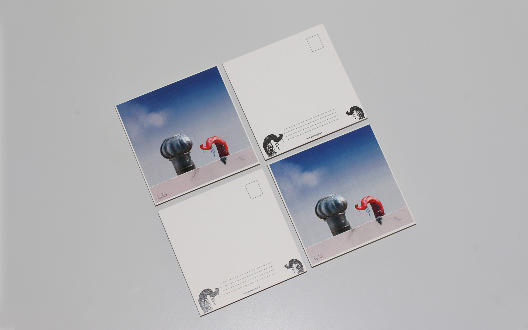 Organic ventilation postcard - 4 postcards