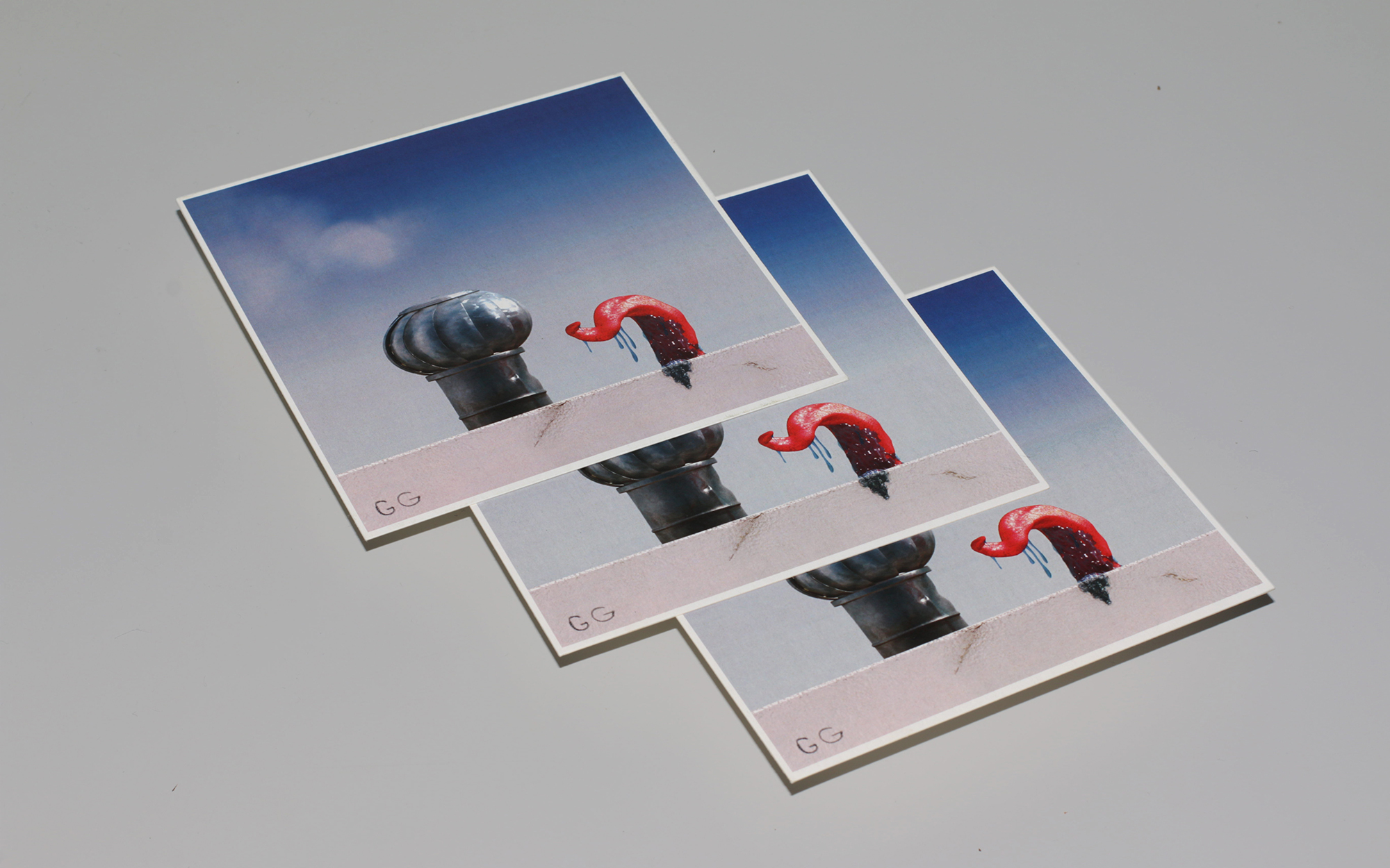 Organic ventilation postcard - 3 postcards